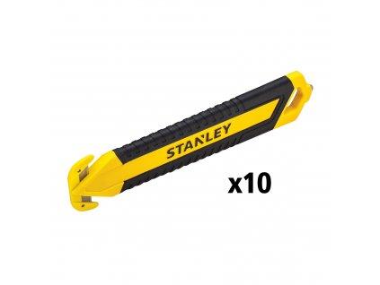 Bimateriálový bezpečnostní řezák s dvojitou čepelí (10ks) STANLEY STHT10360-1