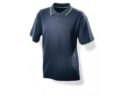 Pánské tmavě modré triko s límečkem Festool S