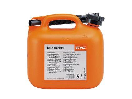 Kanystr na benzín oranžový 5 l