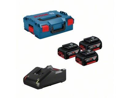 Profesionální sada: 3× akumulátor GBA 18V 5.0Ah + GAL 18V-40 vL-BOXXu 136