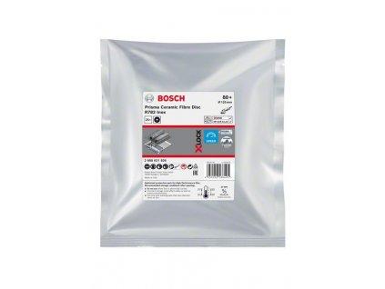 BOSCH X-LOCK fíbrový brusný kotouč Prisma Ceramic, R782 Inox, 125mm, 22,23mm, G80 Professional