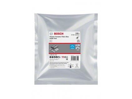 BOSCH Fíbrový brusný kotouč Prisma Ceramic, R782 Inox, 180mm, 22,23mm, G120 Professional