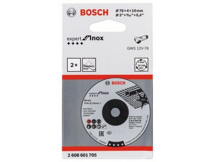 BOSCH Brusný kotouč 76×4×10mm, 2ks, Expert for INOX Professional