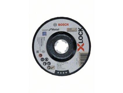 BOSCH Broušení spřesazeným středem Expert for Metal systému X-LOCK, 125×6×22,23 Professional
