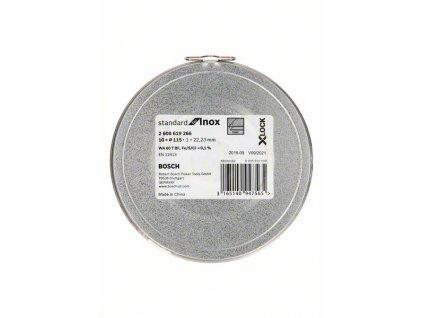 BOSCH Plochý řezný kotouč Standard for Inox systému X-LOCK, 10×115×1×22,23mm Professional
