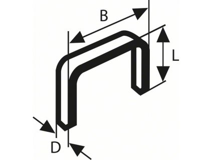 Sponky do sponkovačky z tenkého drátu, typ 58
