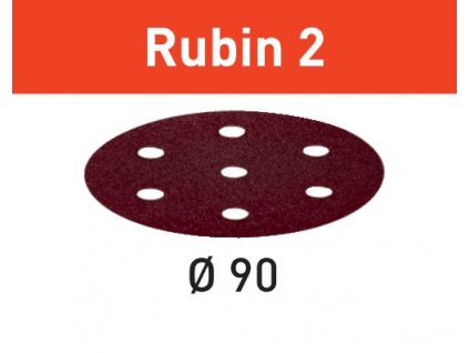 Brusné kotouče STF D90/6 P80 RU2/50 Rubin 2