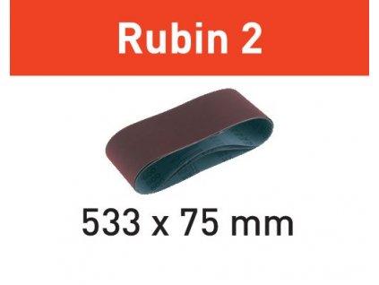 Brusný pás L533X 75-P80 RU2/10 Rubin 2
