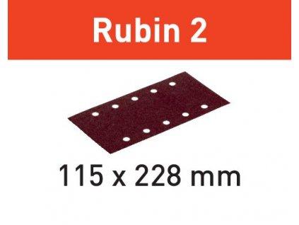 Brusný papír STF 115X228 P100 RU2/50 Rubin 2