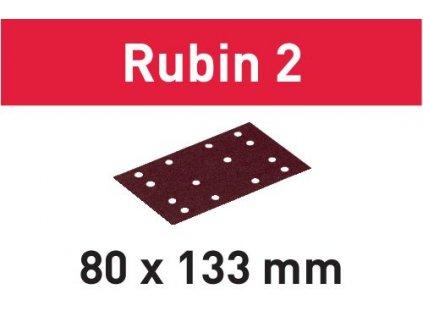 Brusný papír STF 80X133 P80 RU2/50 Rubin 2