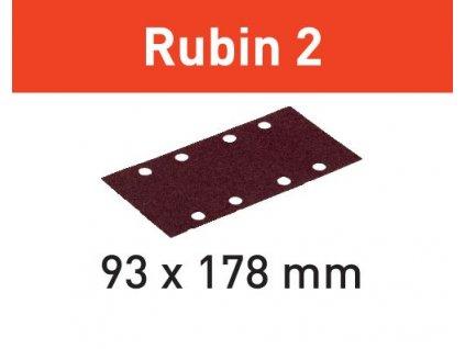 Brusný papír STF 93X178/8 P180 RU2/50 Rubin 2