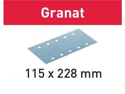Brusný papír STF 115X228 P80 GR/50 Granat