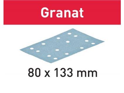 Brusný papír STF 80x133 P80 GR/50 Granat