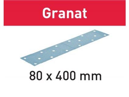 Brusný papír STF 80x400 P180 GR/50 Granat