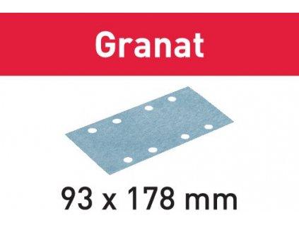 Brusný papír STF 93X178 P40 GR/50 Granat