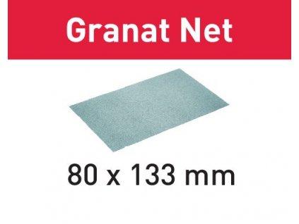 Brusivo s brusnou mřížkou STF 80x133 P80 GR NET/50 Granat Net