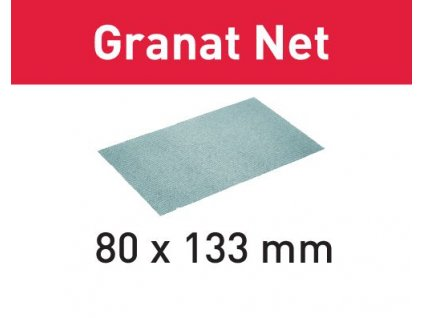 Brusivo s brusnou mřížkou STF 80x133 P120 GR NET/50 Granat Net