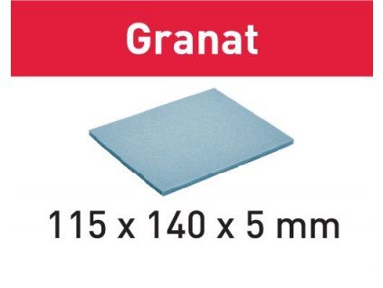 Brusný papír 115x140x5 SF 800 GR/20 Granat