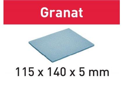 Brusný papír 115x140x5 UF 1000 GR/20 Granat