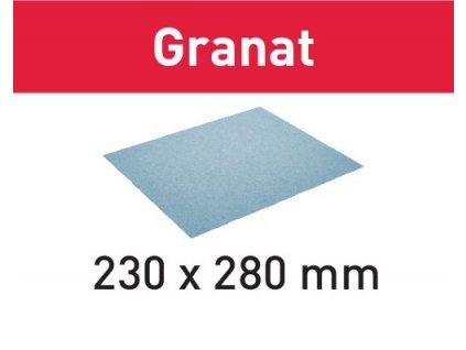 Brusný papír 230x280 P100 GR/50 Granat