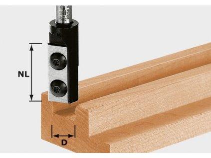 Drážkovací fréza svyměnitelnými břitovými destičkami HW S8 D8/20 WP Z1