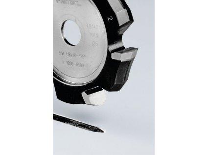 Drážkovací fréza ve tvaruV HW 118x18-135°/Alu