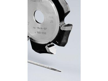 Drážkovací fréza ve tvaruV HW 118x14-90°/Alu