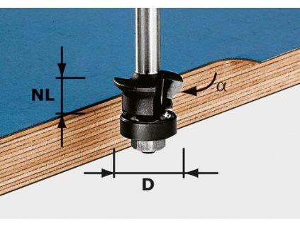 Fazetovací lícovací fréza HW S8 D24/0° +45°