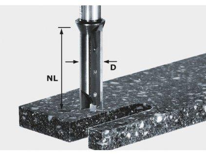 Drážkovací fréza svyměnitelnými břitovými destičkami HW S12 D14/45 WM