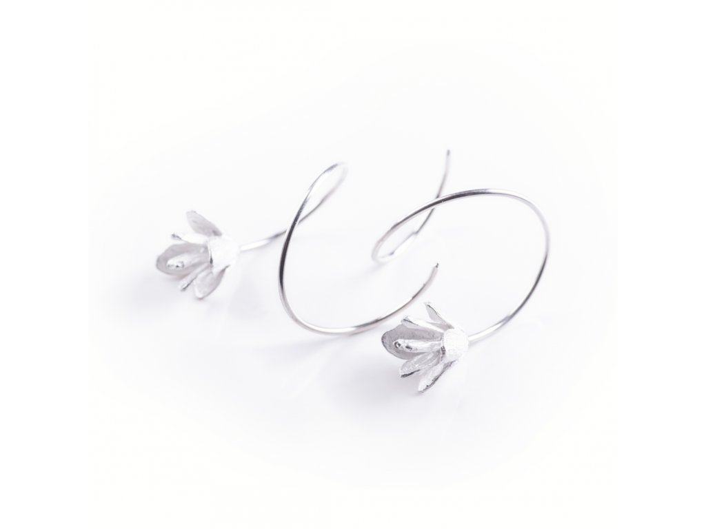 8earrings Thuja flores silver