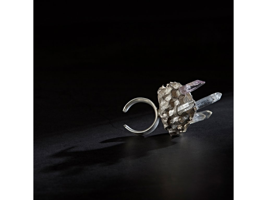 Lust prsten Favus Ag925 1000 křišťál 14g 043 a fin SQ