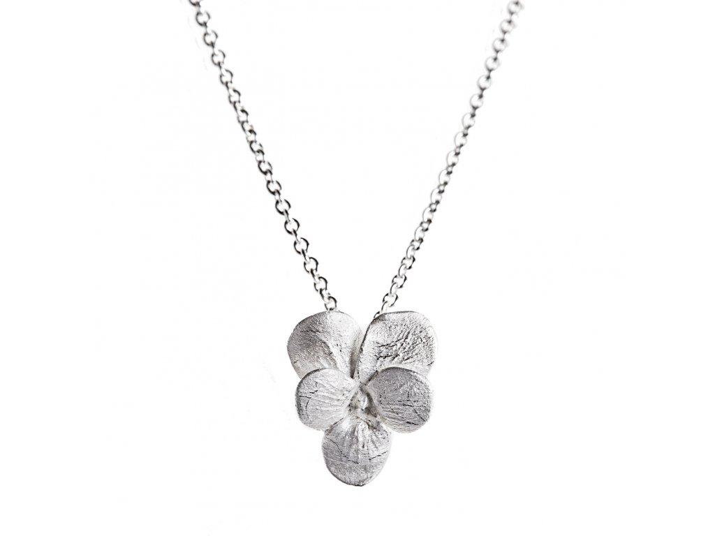 Hanus Lamr Violet pendant silver 1