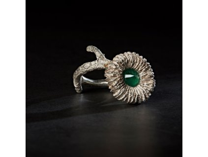 Lust prsten kvet smaragd 008 a fin SQ