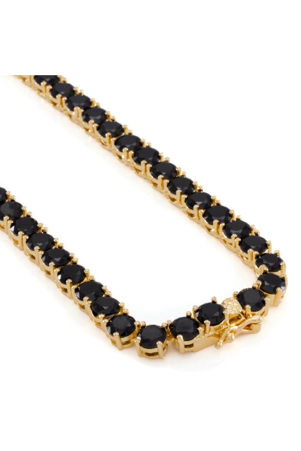 5mm náhrdelník pozlátený 14K zlatom TENNIS KING ICE - HANZI.sk ... 547db8242c7