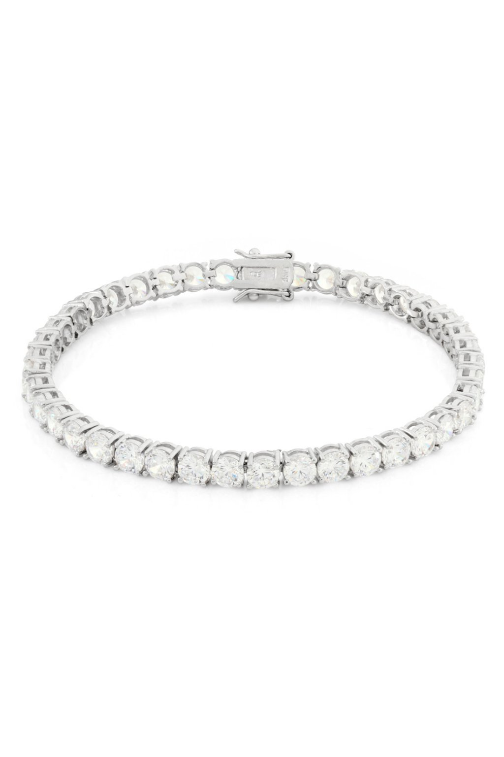 BRX00349 5mm White Gold Single Row Pharaoh Bracelet