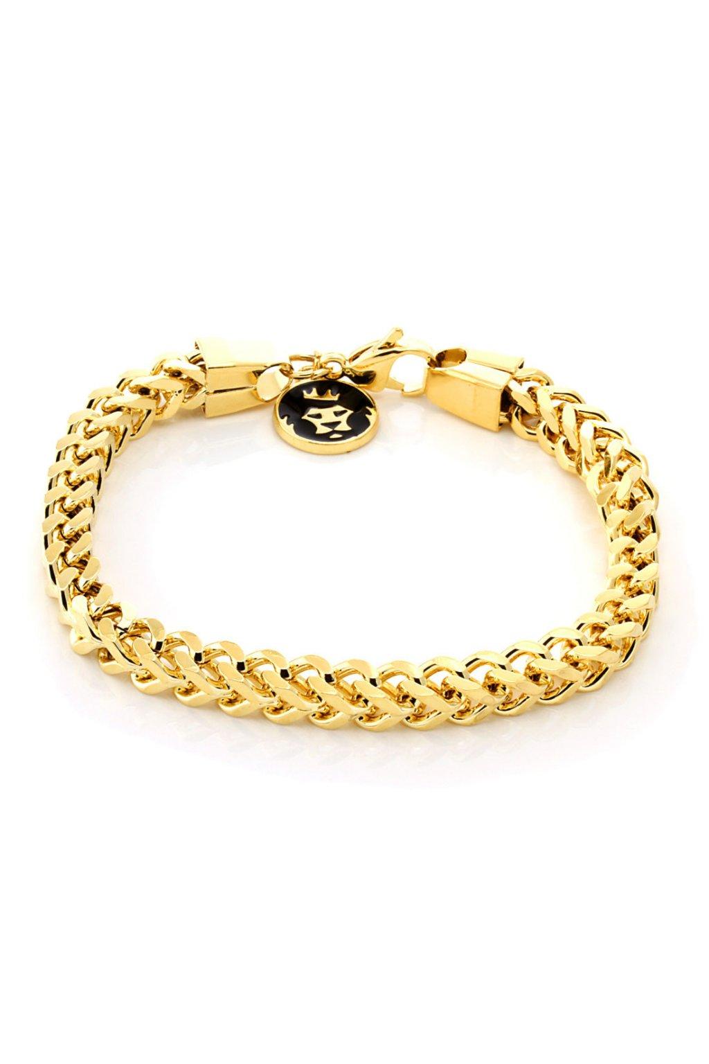 brx11782 6mm gold skeleton franco chain bracelet 3