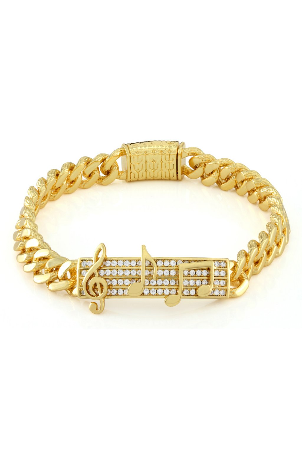 BRX12025 The 14K Gold Note ID Band