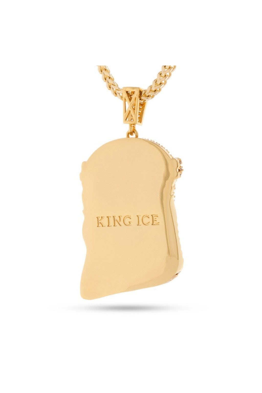 ... NKX10779 King Ice 14k Yellow Gold CZ Jesus Piece Necklace 4 fbfb73f9  fb1c 42e5 801c 904edc898aca ... b53d080188d