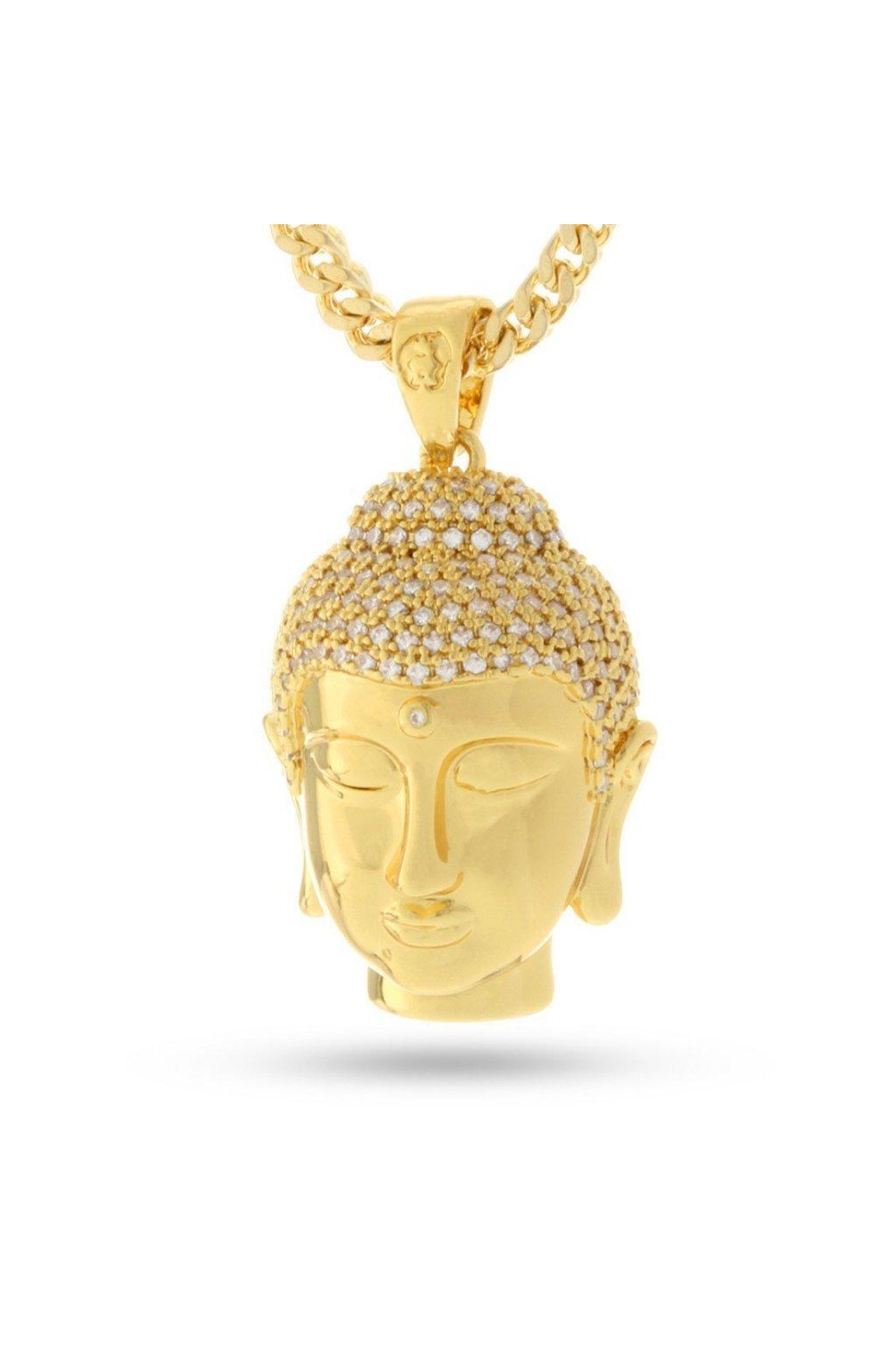 14K pozlátený Mini Buddha náhrdelník 3 HANZI