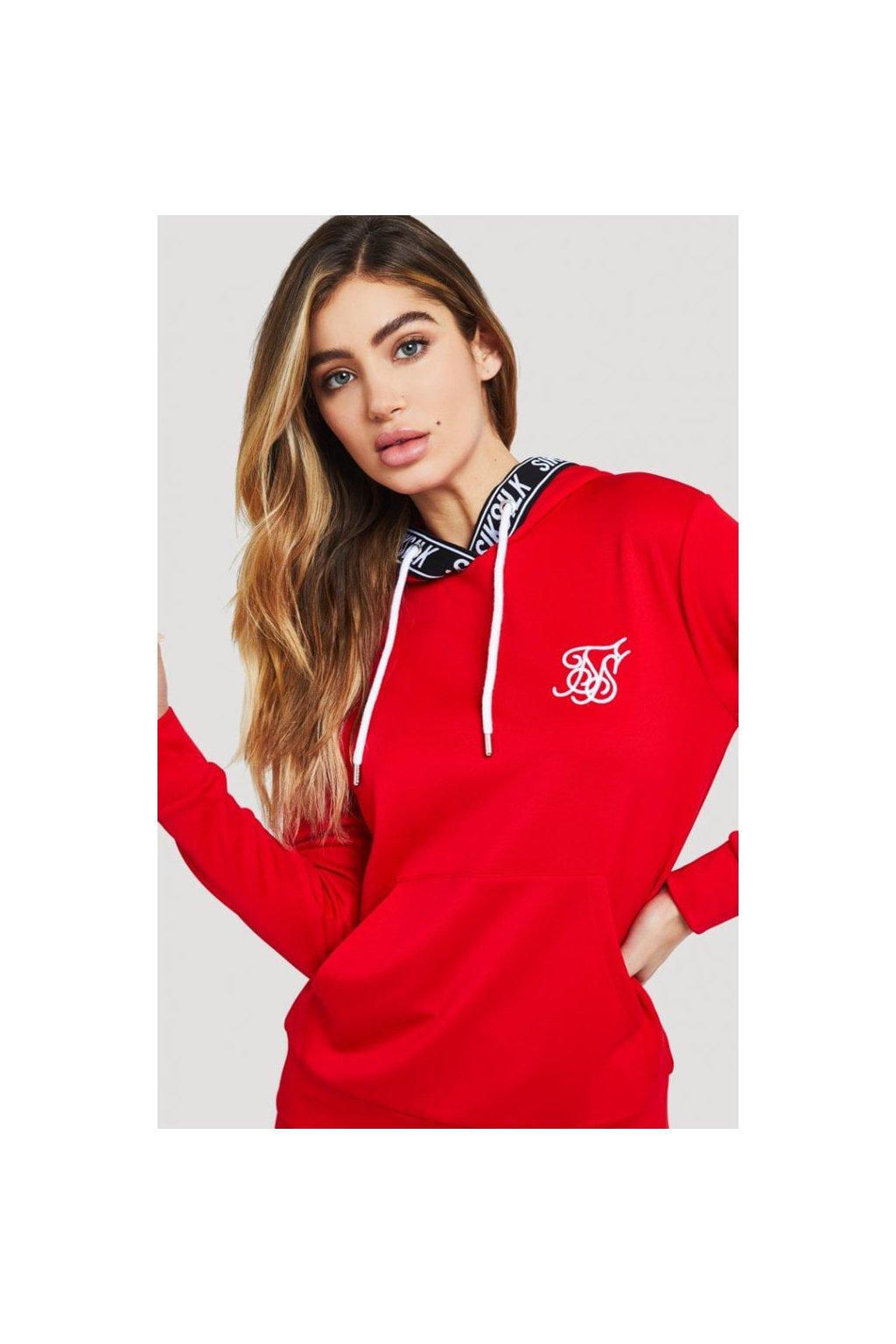 siksilk elastic poly overhead hoodie red p2945 28125 medium