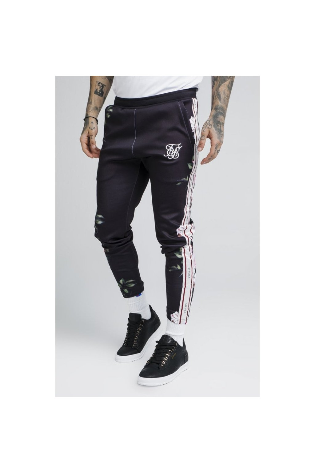 siksilk oil paint poly tricot cropped pants black p2651 23872 medium