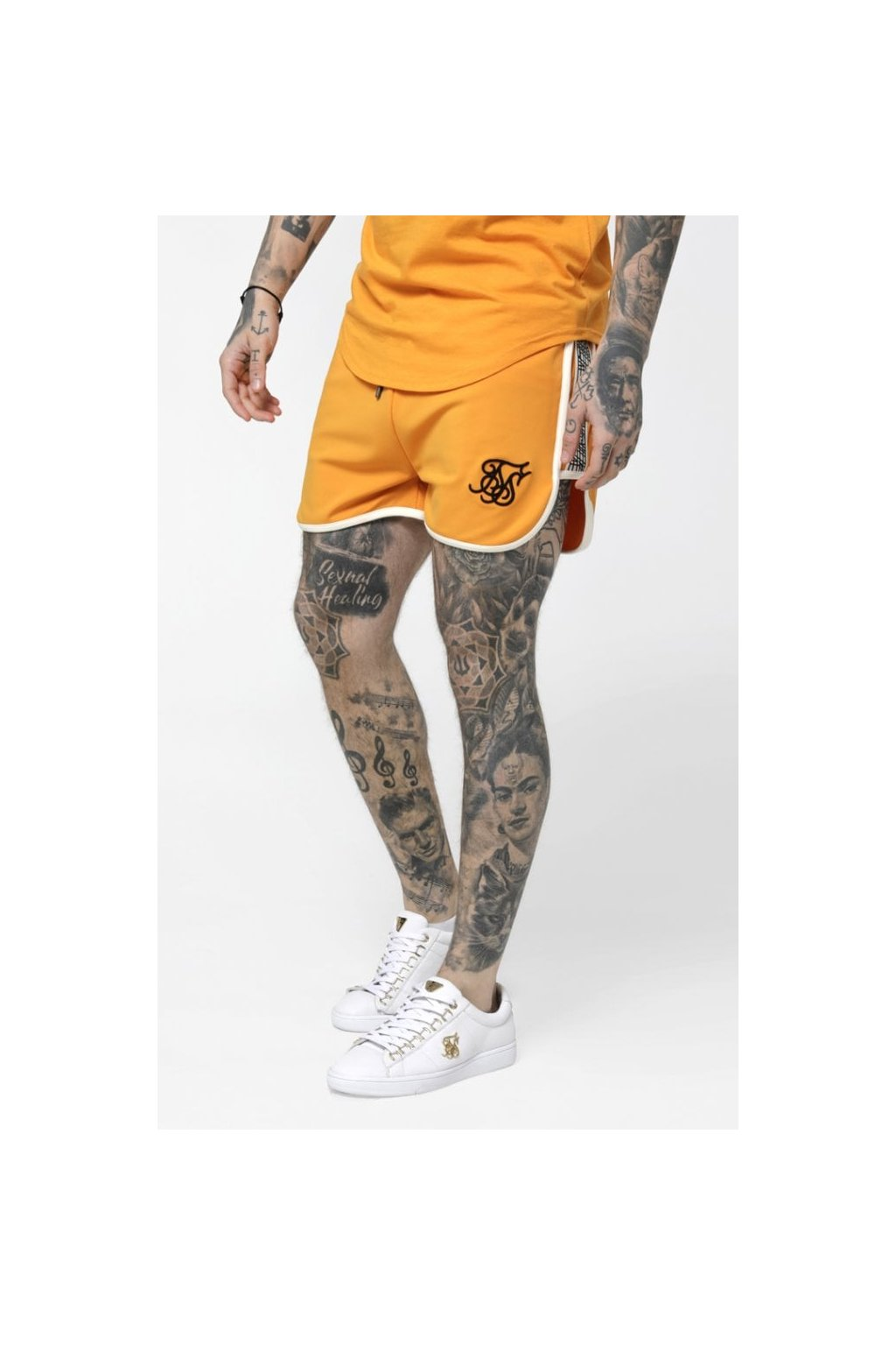 siksilk runner panel shorts yellow p3575 30994 medium