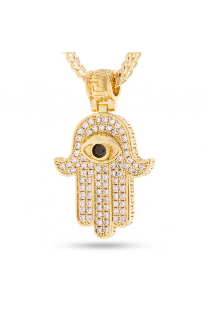 NKX11687 14K Gold Hamsa Necklace