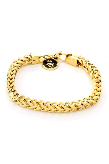 brx11782 6mm gold skeleton franco chain bracelet 3