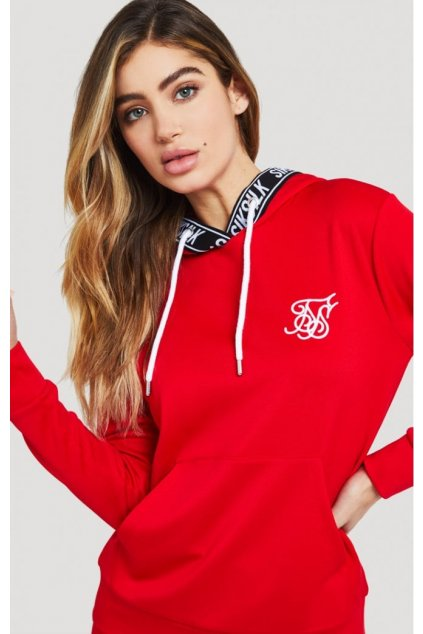 siksilk elastic poly overhead hoodie red p2945 28125 medium