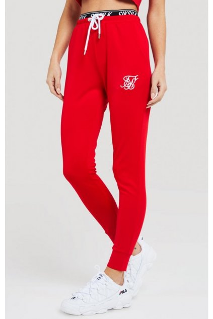 siksilk elastic poly joggers red p2946 25718 medium