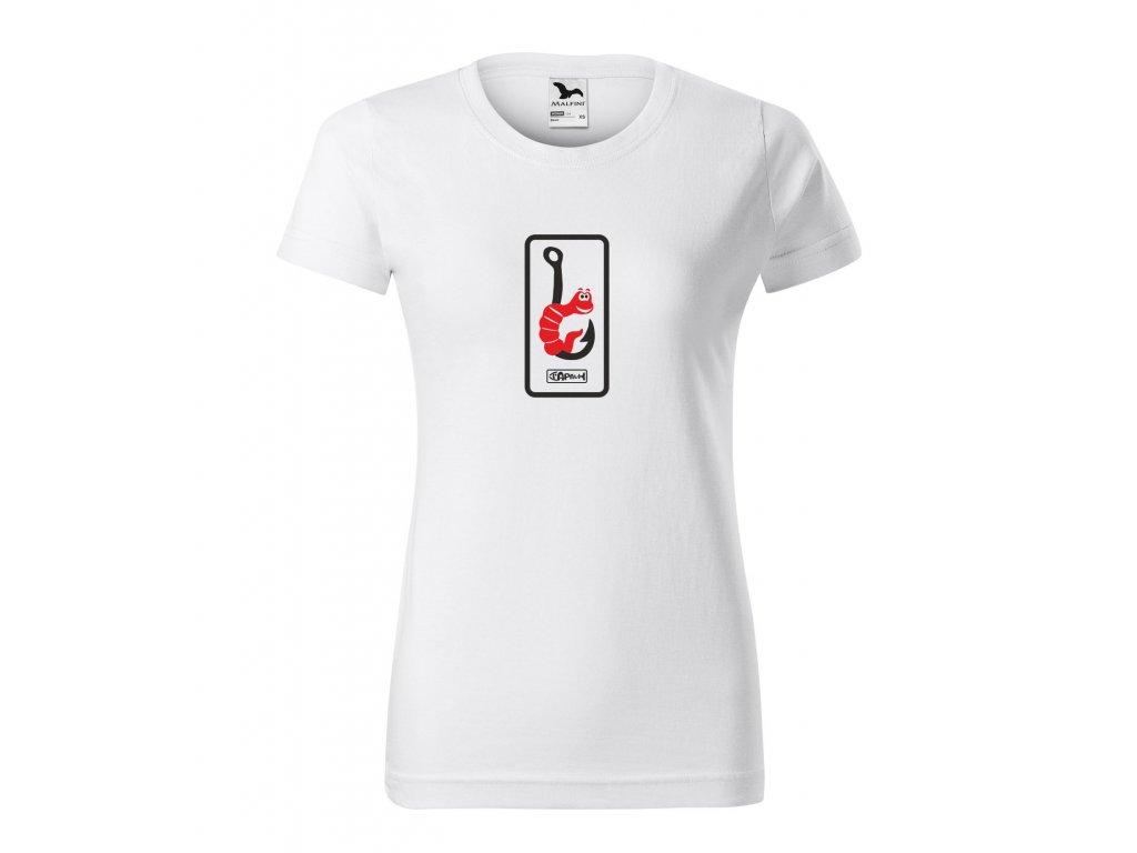 Triko dámské červ na háčku Bílá+červený