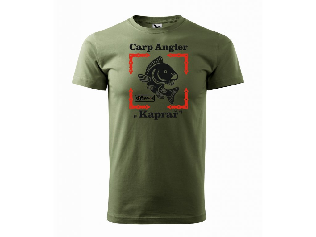 Triko pánské Carp Angler HAPALI Khaki r