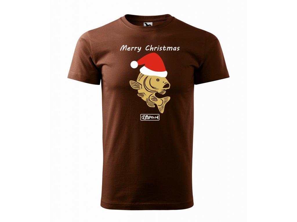Triko pánské Vánoční Kapr čokoloádová r