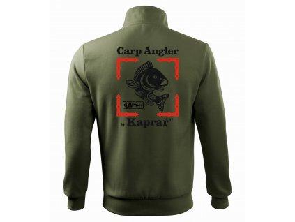 Mikina pánská Carp Angler HAPALI Khaki r